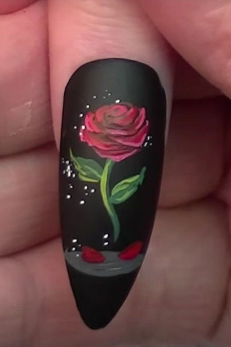 4-Rose-Nail-Art-Designs-328 - 4-Rose-Nail-Art-Designs-328 - Nail Art Designs 2017