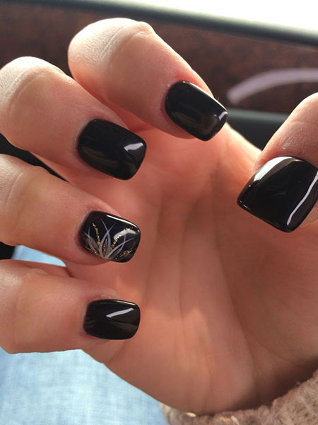 5 Black Nails With Design 36 Nail Art Designs 2017