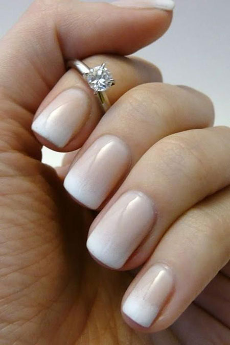 Wedding Manicure French Spring