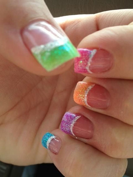 Elegant Colorful Glitter Rainbow