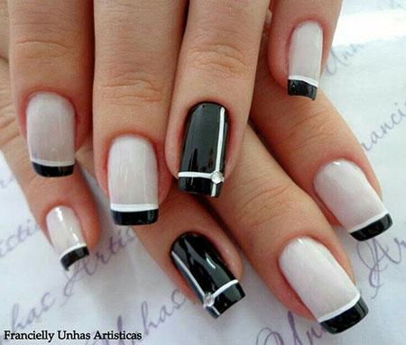 Classy Decoradas Black Manicure