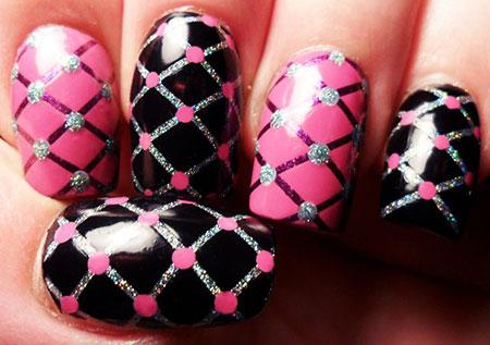 Pink Black Cross