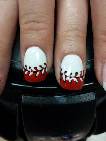 Baseball Softball Fingernails Halloween
