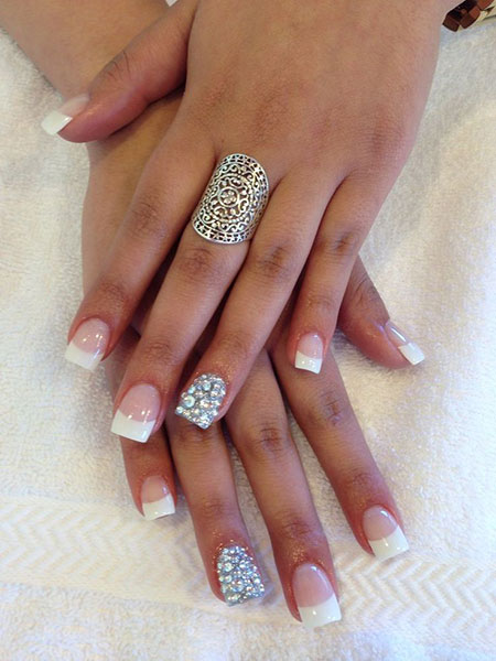 6-White-Tip-Nail-Designs-17 - 6-White-Tip-Nail-Designs-17 - Nail Art Designs 2017