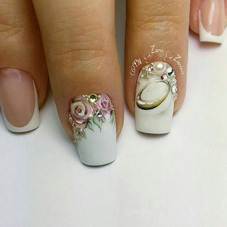 Wedding White Bridal Manicure