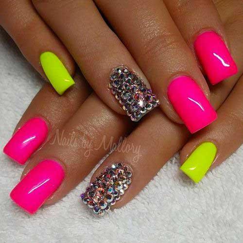 Best Vivid Color Nail Arts