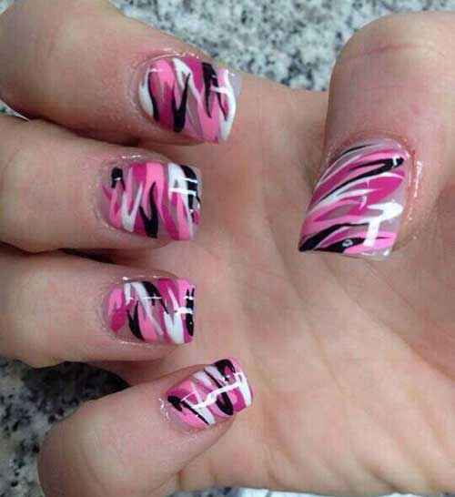 Square Shape Nail Designs