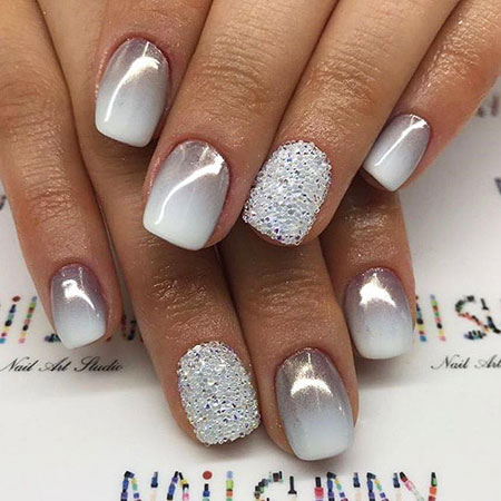 Ombre Nail Art Design, Nail Nails Winter Designs