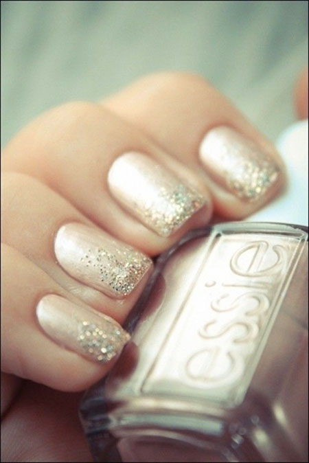 Picture of Wedding Nail Design, Nails Polish Wedding Glitter