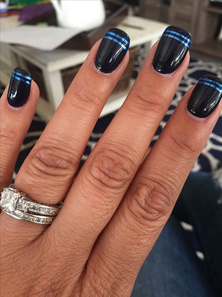 Nail Thin Blue Nails