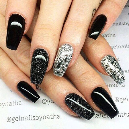 Nail Nails Black Coffin
