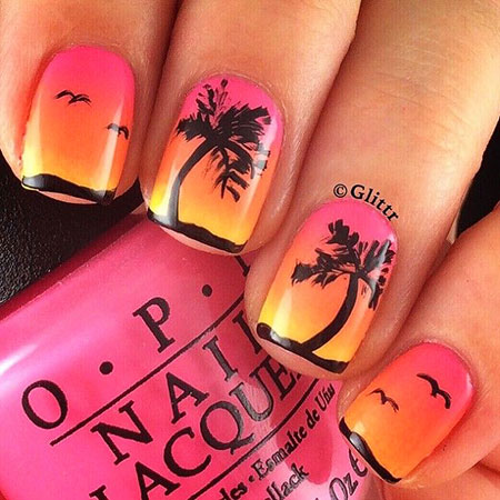 11 Summer Nail Art Tree 294 Nail Art Designs 2017