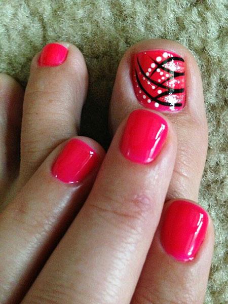 Toe Pink Nails Nail