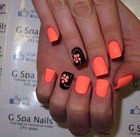 14-Bright-Orange-Nail-Designs-138 - 14-Bright-Orange-Nail-Designs-138 - Nail Art Designs 2017