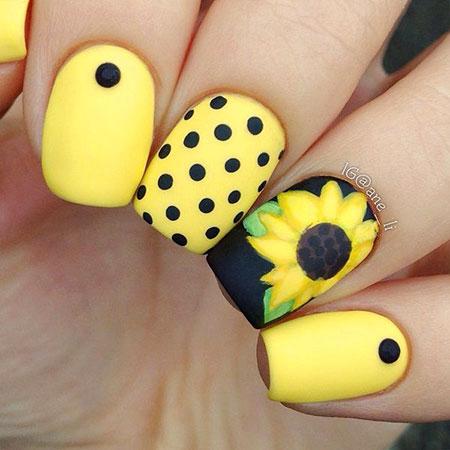 Nail Nails Yellow Designs