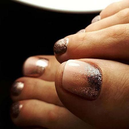 Glitter Nails Toe Nail