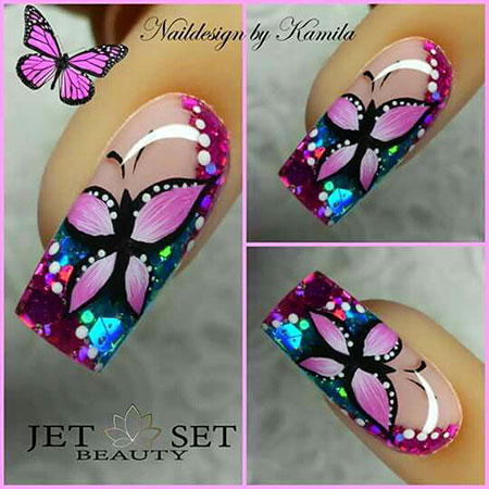Designs Nail Butterfly Manicure