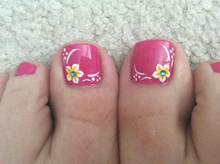 Nail Toe Summer Pedicure