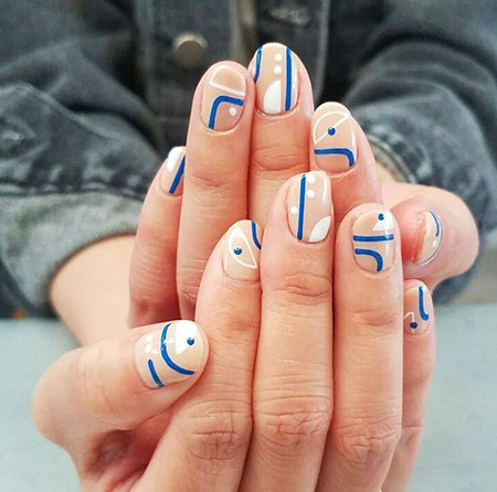 Nail Line Manicure Abstract