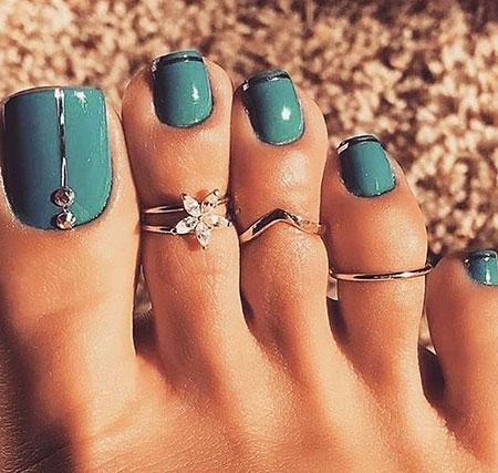 Toe Nail Rings Art