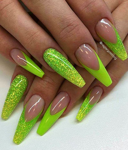 Lime Green Nails, Nails Nail Green Unghie