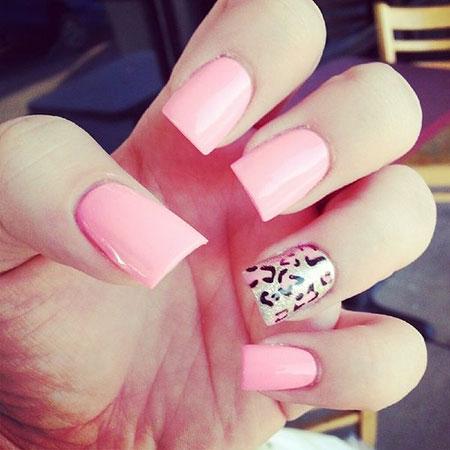Pink Cheetah Nails Nail