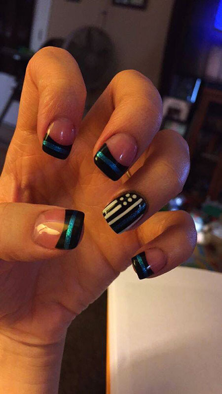 Nail Line Thin Blue