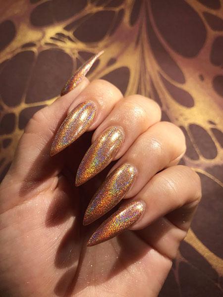 Nails Glitter Nail Gold