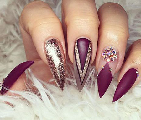Nails Stiletto Nail Long