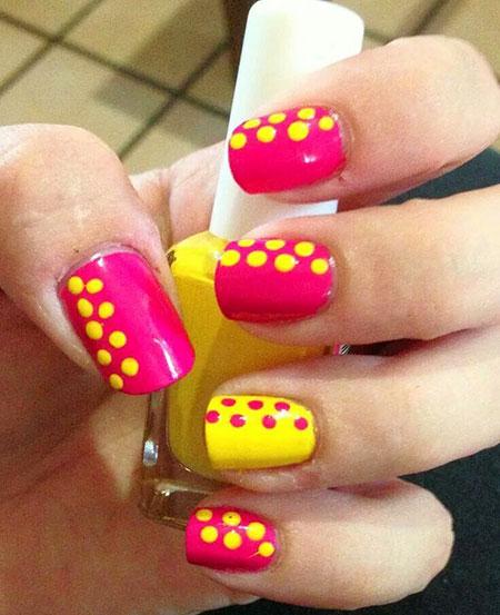 31 Nail Art Designs Pink And Yellow 281 Nail Art Designs 2017