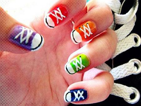 Converse Nail Design, Nails Nail Ideas Converse