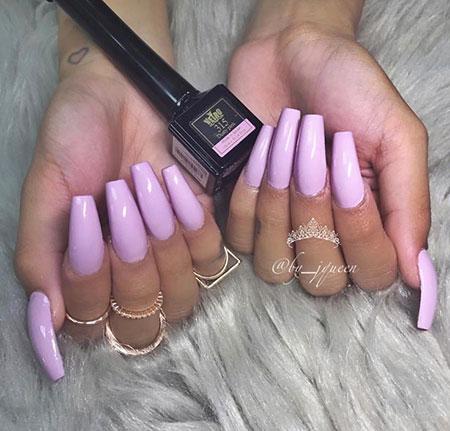 Pink Colored, Nails Nail Natural Acrylics