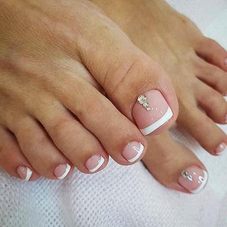 French Nails on Toe, Nail Toe Nails French