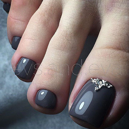 Black Toe Nails, Nail Designs Art Nails