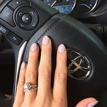 Short Almond Nails, Short Almond Rings Nail