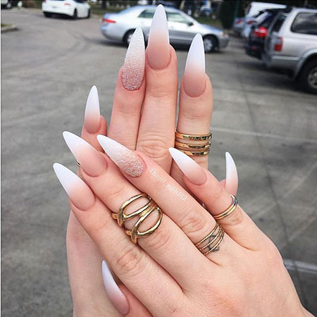 Nail Nails Stiletto Ombre