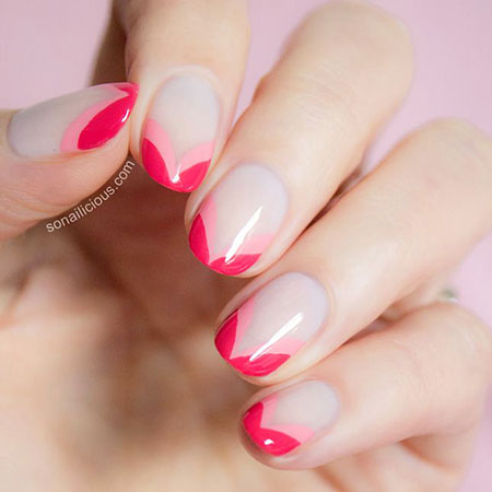 Pink Nail Idea, Nail Pink French Nails