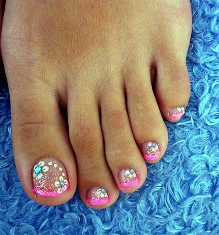 Nail Toe Pedicure Art