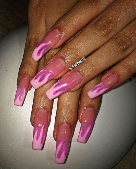 Nails Nail Acrylic Coffin