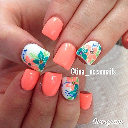 Nail Nails Flower Designs