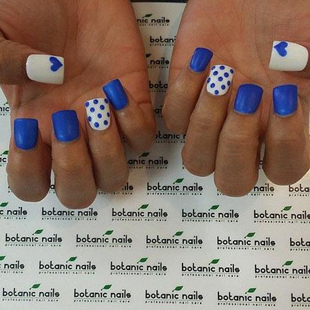 Nails Nail Blue Botanic