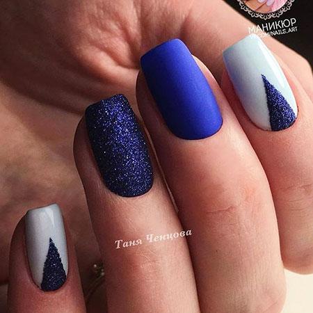 Nails Nail Blue White