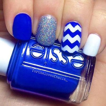 Nail Blue Nails White