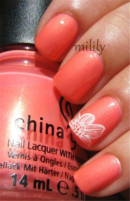 Nail Coral Polish Nails