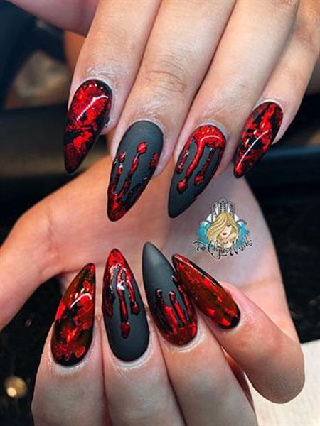 Nail Halloween Nails Stiletto