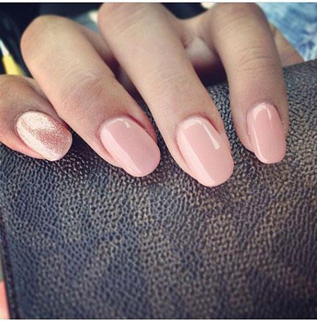 Nails Nail Pink Round
