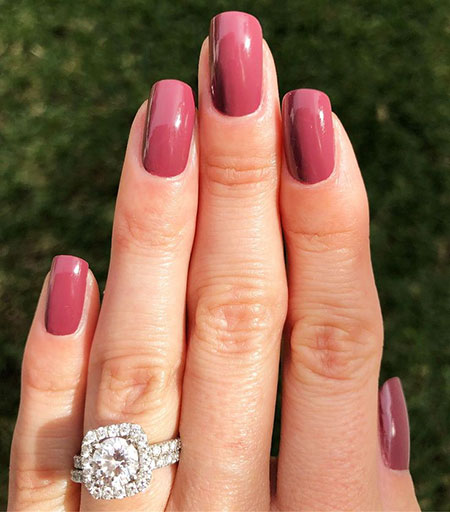 Engagement Manicure Diamond Rings