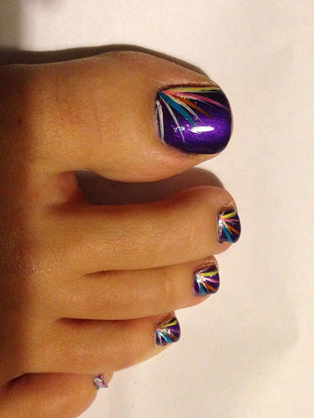 Toe Nail Cute Designs