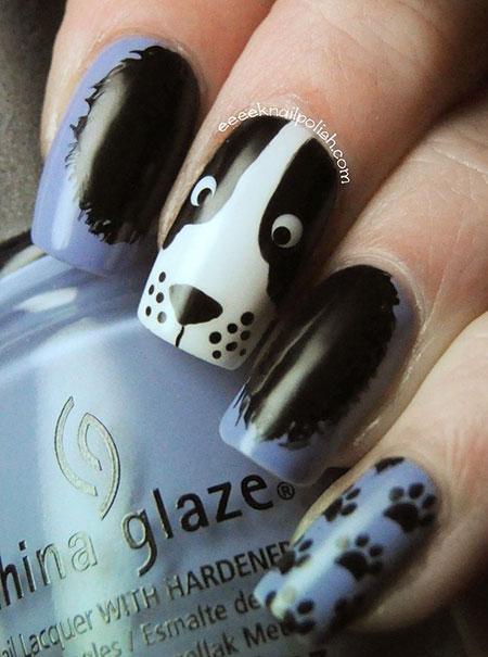 Nail Animal Love Themed