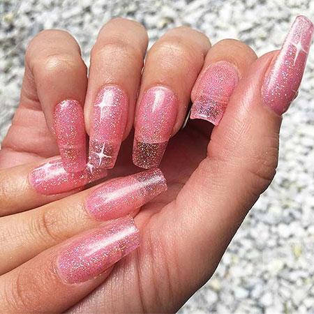 Nails Glitter Nail Acrylic